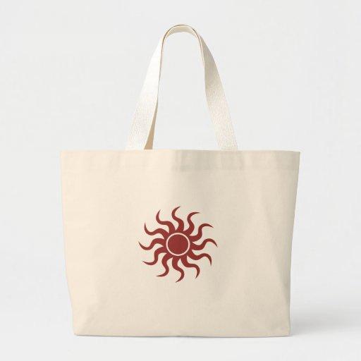 Tribal Sun Red Canvas Bag