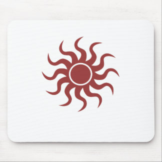 Tribal Sun Red Mouse Pad