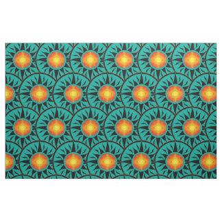 Tribal Sun Repeating Overlap Fabric