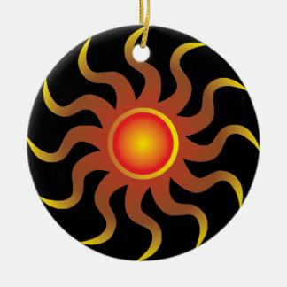 Tribal Sun Round Ceramic Decoration