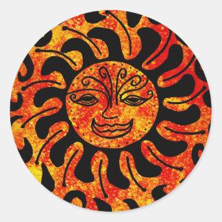 Tribal Sun Round Sticker