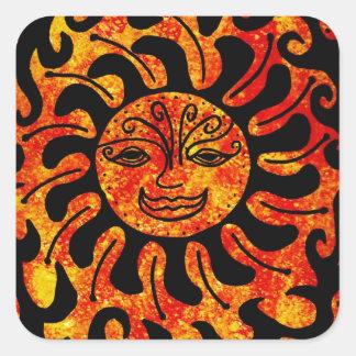 Tribal Sun Square Sticker