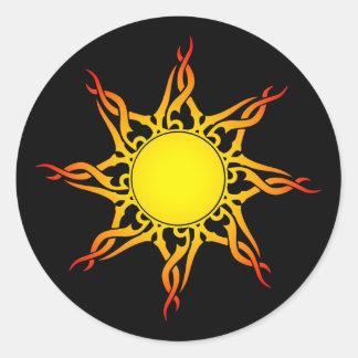 Tribal Sun Stickers