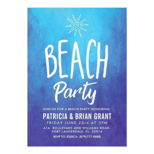 Tribal Sun Style Beach Party Card