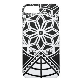 Tribal sun tattoo design iPhone 7 case