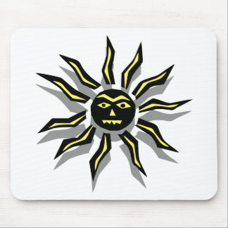 Tribal Sun Tattoo Mouse Pads