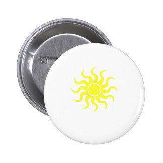 Tribal Sun Yellow Button