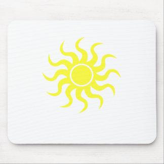 Tribal Sun Yellow Mouse Mat