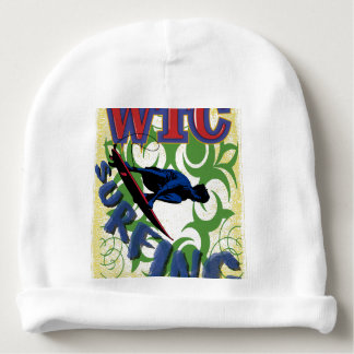 Tribal surfing baby beanie