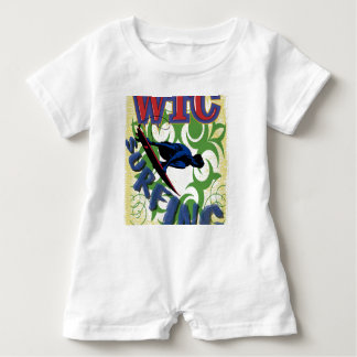 Tribal surfing baby bodysuit