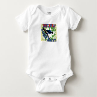 Tribal surfing baby onesie