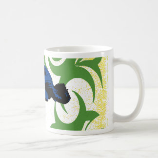 Tribal surfing coffee mug