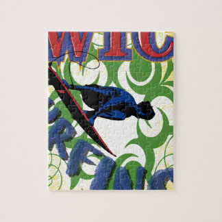 Tribal surfing jigsaw puzzle