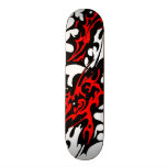 Tribal Tattoo Blades (red and black) Skateboard Deck