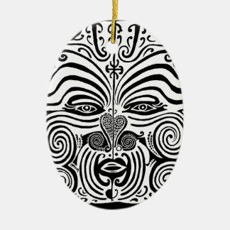 Tribal Tattoo Design - New Zealand Maori Ceramic Ornament