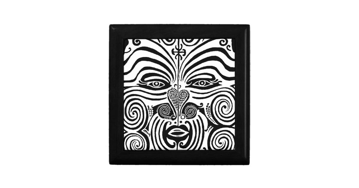 tribal tattoo design new zealand maori small square gift box zazzle. Black Bedroom Furniture Sets. Home Design Ideas