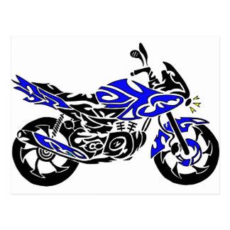 Tribal Tattoo Motorcycle Postcard