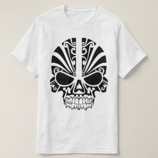 Tribal Tattoo Skull Mask T-Shirt