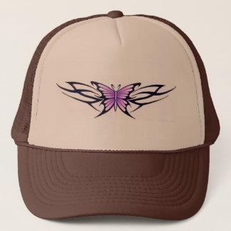 tribal tattoo-style butterfly trucker hat