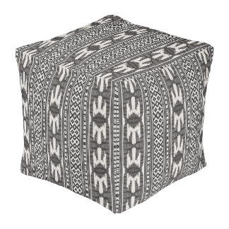 Tribal Textile Pouf
