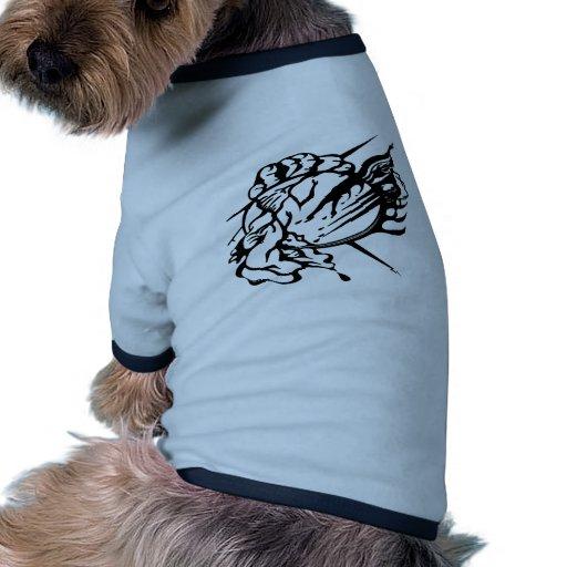 Tribal Thunder Cloud Tattoo Dog Tshirt