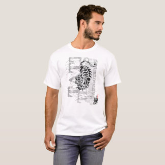 Tribal tiger - white t-shirt