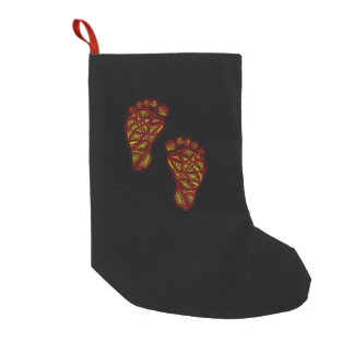 Tribal Toes Small Christmas Stocking