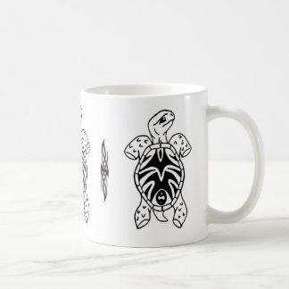 tribal tortoise sketch coffee mug