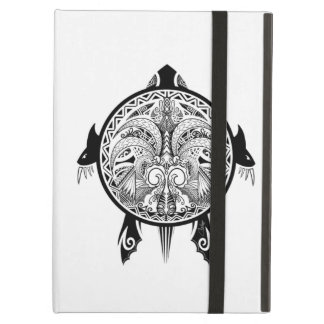 Tribal Turtle Shield Tattoo iPad Air Cover