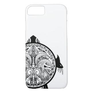 Tribal Turtle Shield Tattoo iPhone 8/7 Case
