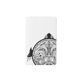 Tribal Turtle Shield Tattoo Pocket Moleskine Notebook