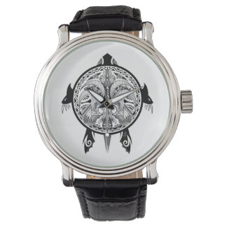 Tribal Turtle Shield Tattoo Watch