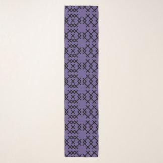 Tribal Ultra Violet Purple Nomad Geometric Shapes Scarf