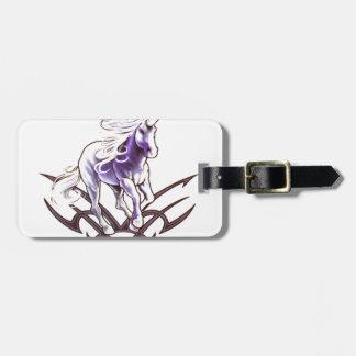 Tribal unicorn tattoo design luggage tag