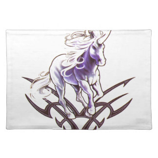Tribal unicorn tattoo design placemat