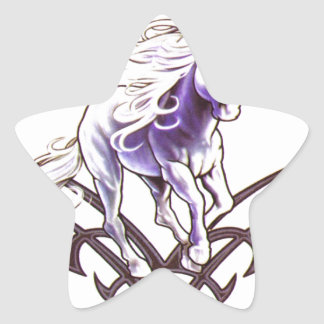 Tribal unicorn tattoo design star sticker