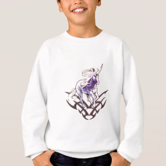Tribal unicorn tattoo design sweatshirt