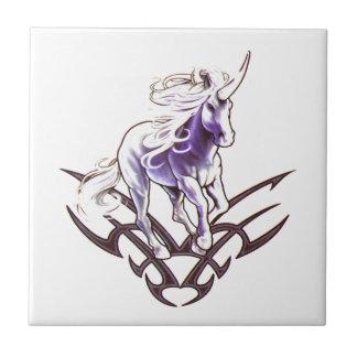 Tribal unicorn tattoo design tile