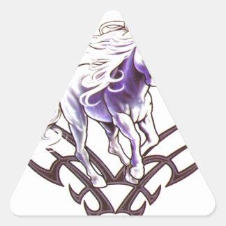 Tribal unicorn tattoo design triangle sticker