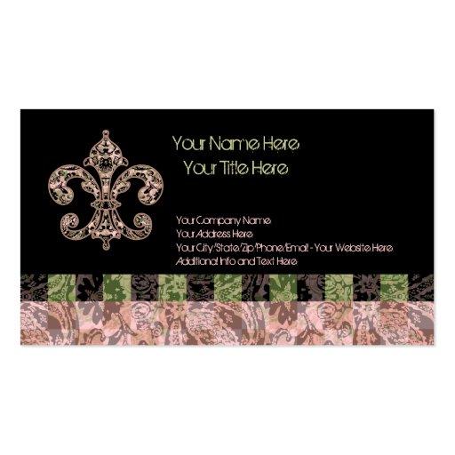 Tribal Voodoo Fleur de lis Business Cards