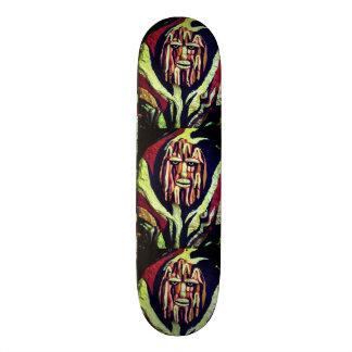 Tribal warrior painting design skateboard