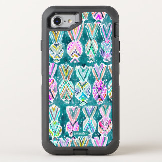 Tribal Watercolor Pineapple Print OtterBox Defender iPhone 8/7 Case