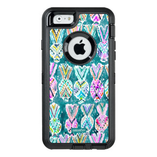 Tribal Watercolor Pineapple Print OtterBox iPhone 6/6s Case