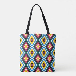 Tribal Weave 2-in-1 All-over Print Tote