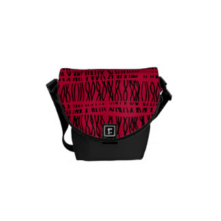 Tribal weave black and red stripes small bag commuter bag