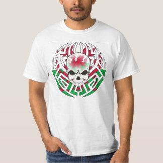 Tribal Welsh Flag/Skull T-Shirt