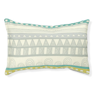 Tribal Whimsy Mint Dog Bed