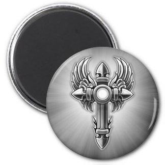 Tribal Winged Cross Design Fridge Magnets