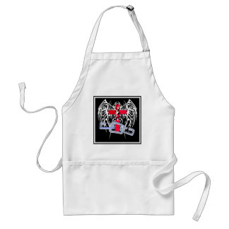 TRIBAL WINGS WITH CROSS AND CHAINS ADULT APRON