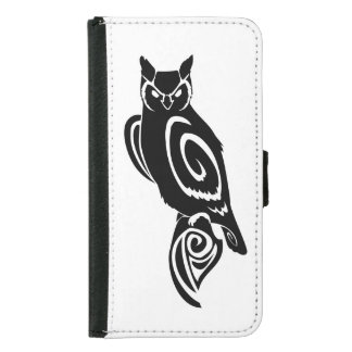 Tribal Wise Great Horned Owl Samsung Galaxy S5 Wallet Case